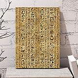 LLXHGResumen Jeroglíficos Egipcios Antiguos Cultura De Escritura Cultura Egipcia Arte Nórdico Cartel De Lienzo Decoración De Pared para El Hogar C -50X70Cm Sin Marco