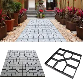 MEYLEE Path Maker plástico Caminar hormigón Molde jardín DIY césped pavimentación, Negro,Square