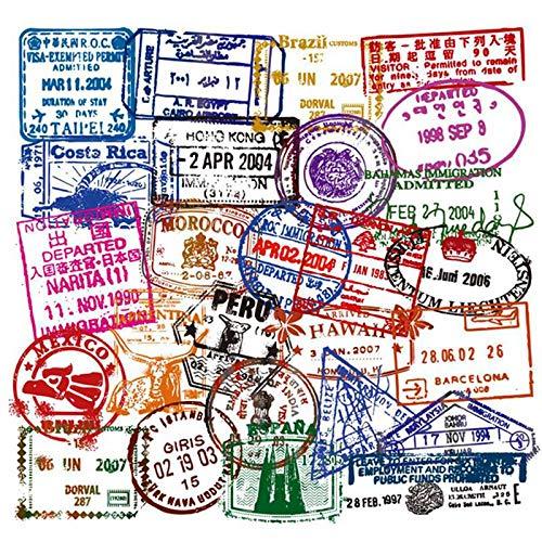 SZYND Pase de embarque de Viaje Retro Billetes de avión Pegatinas de Maleta Creativas para Bolsas de Equipaje para computadora portátil Teléfono de Bicicleta Etiqueta Fresca 50 unids/Lote