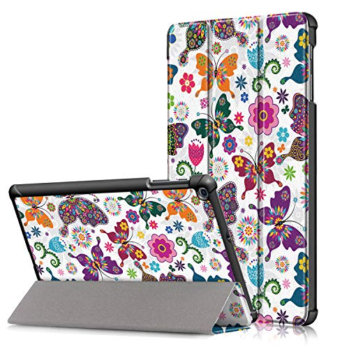 Surom Case for Samsung Galaxy Tab A 10.1' 2019 (Model SM-T510 / T515), Ultra Slim Lightweight Tri-Fold Stand Cover Case for Galaxy Tab A 10.1' 2019, Butterfly