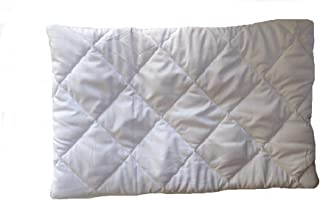 Happy Home Products 2nd Gen Pillow Protector Quilt Cover with hi Flipper Hypoallergenic 100% Cotton Satin Colour White Colour White Size (18 x 27) (1)