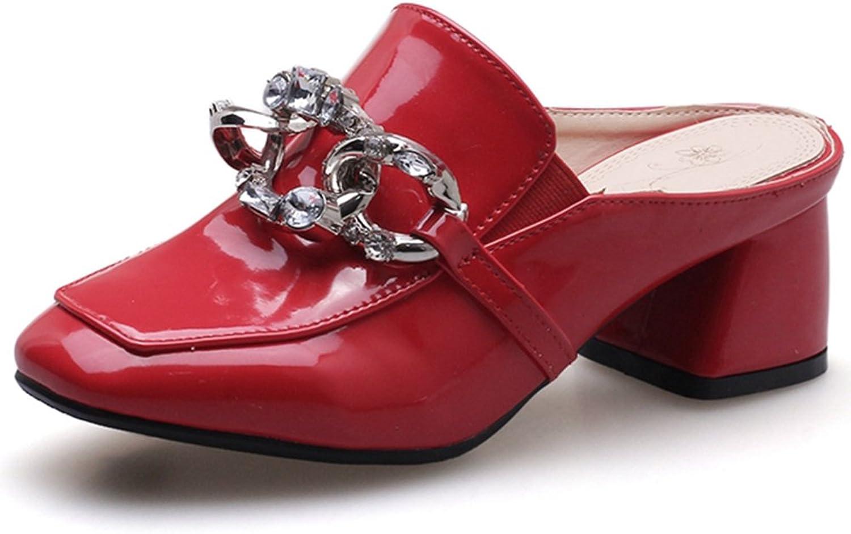 SaraIris Women's Chunky Mid Heel shoes Daily Mule shoes