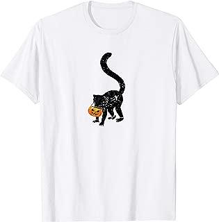 Vintage Lemur Halloween Costume Pumpkin Gifts Mom Dad T-Shirt