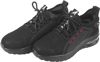 Sapatos industriais, biqueira de aço antiderrapante, sapatos masculinos de bico de aço, fabricação durável para locais de ...
