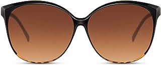 Cheapass Lunettes de soleil Grand Style Papillon pour Femmes Protection UV400