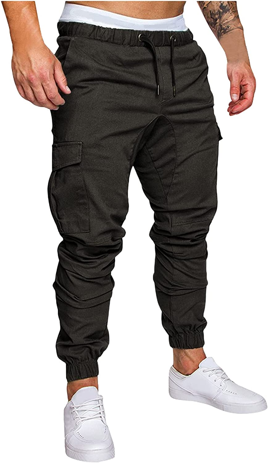 MOOKO Mens Joggers Athletic Pants Slim Fit Stretch Cargo Pants Sports Outdoors Running Hiking Sweatpants Trousers