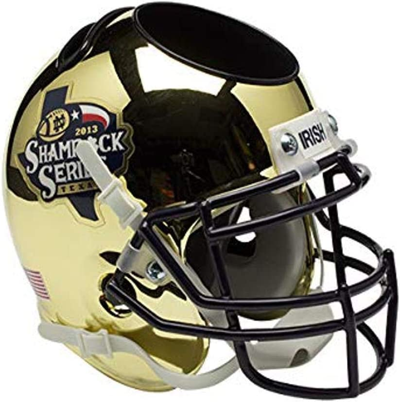 Schutt NCAA Notre Dame Fighting Desk Caddy Outlet ☆ Max 72% OFF Free Shipping Football Helmet Irish