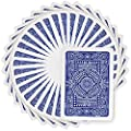 Modiano Texas Poker Hold'em 100% Plastic Playing Cards, Jumbo Index, Poker Wide Size (Blue)