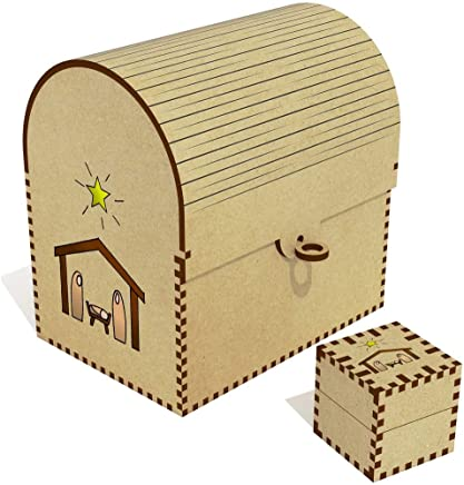 Azeeda  Christmas Nativity Scene  Treasure Chest Jewellery Box  TC00041044