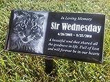 Black Granite Pet Human Memorial Stone with Stand Horse Cat Dog Custom Made