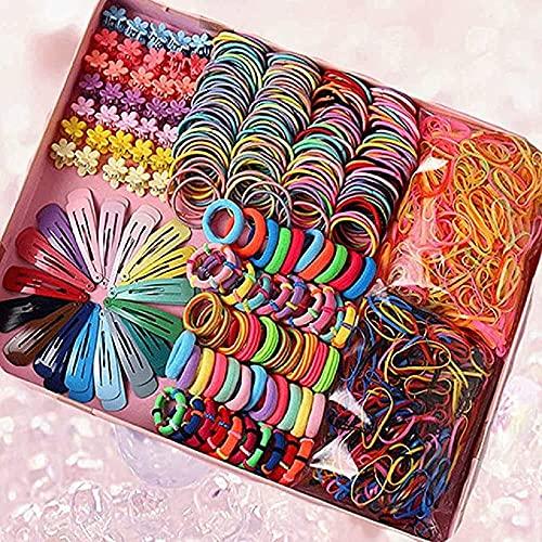 780 pièces variété d'accessoires pour cheveux pinces à queue de cheval pour les filles coiffures pour tout-petits filles queues de cheval variété de cheveux Petites filles accessoires pour cheveux