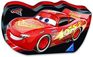Ravensburger Disney Cars 3 Let's Go In A Cars Shaped Box 100 Piece Jigsaw Puzzle for Kids – Every Piece is Unique, Pieces Fit Together Perfectly