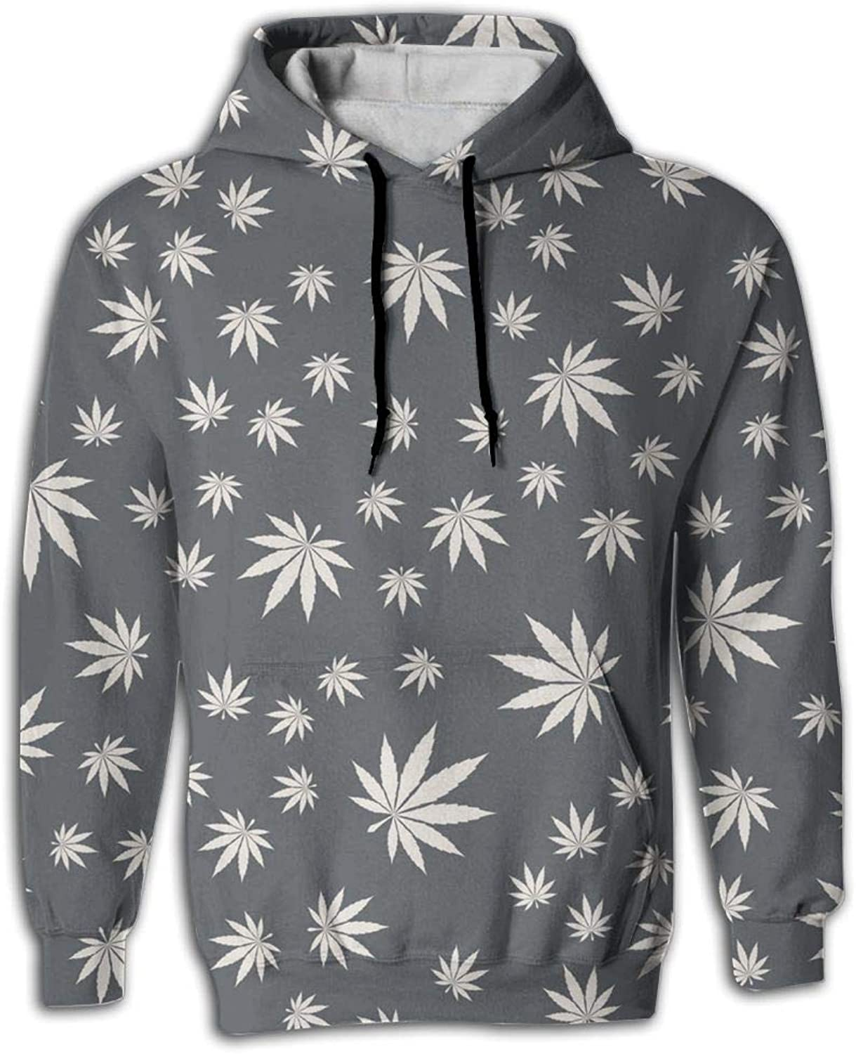 Nice Big Pockets Suit Vegan Eco Natural Cannabis White Hoodie