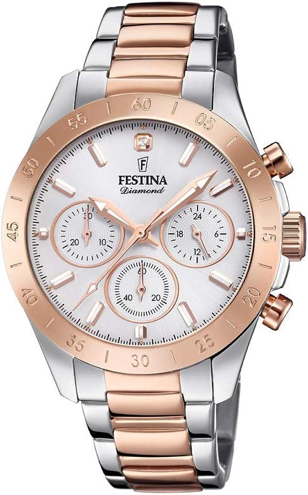 Festina orologio cronografo da donna  in acciaio inossidabile F20398/1