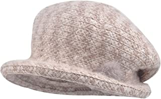 Splice Beret Hat Women Autumn Winter Warm Classic Vintage Artist Flat Cap, Soft Outdoor Thermal Hat(57.5cm)