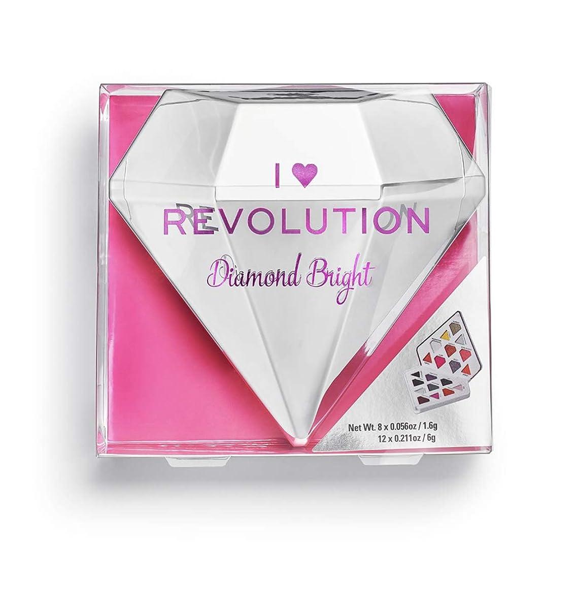 お誕生日邪魔マウントバンクメイクアップレボリューション ダイヤ型20色アイシャドウパレット Diamond Bright