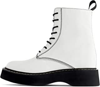 Zara Women Flat Leather Ankle Boots with Micro-Toothed Track Sole Detail 6184/001