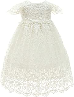 KRUIHAN Lace Gowns Christening Hundred Days Party Princess Skirt Girl Newborn Dresses