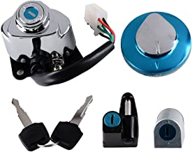 Combo Compatible with Honda Shadow VLX VT Ignition Fuel Gas Cap Steering Lock Set + 2 Keys