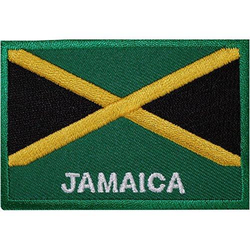 Bestickter Aufnäher zum Aufbügeln, Motiv Jamaika-Flagge, für Rasta-Anhänger, auf Hemd, Hut, etc.