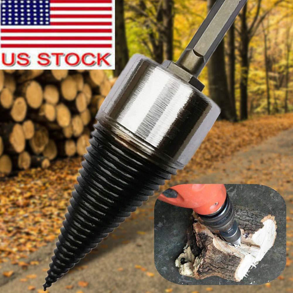 High Speed Steels Firewood Drill Bit Wood Splitter Tool Cone Driver Hex