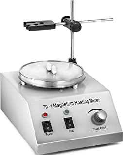 Happybuy 79-1Magnetic Stirrer 150W 1000ML Lab Magnetic Mixer and Hotplate 0-1600 RPM Adjustable Magnetic Stirrer Mixer wit...