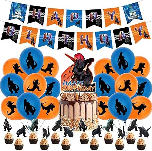 OFFicial Godzilla Birthday Party Supplies include Decorations Max 59% OFF Ca