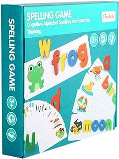 Mumoo Bear 1 Set Spelling Words Game Wood 26 English Letter Teaching Blocks Alphabet Learning Toys Spelling Study Toys Edu...