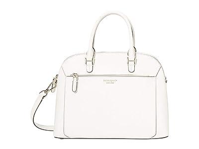Kate Spade New York Louise Medium Dome Satchel (Parchment) Bags