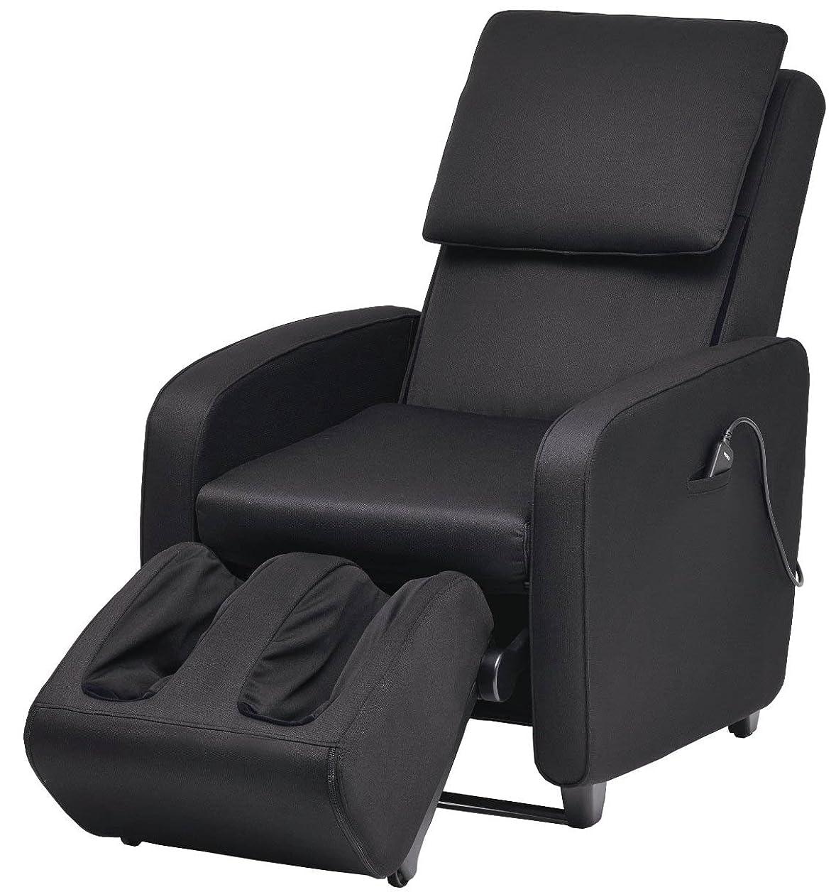 振る舞うシーサイド配分スライヴ マッサージソファ くつろぎ指定席 ファブリック ブラック CHD-7400(FK)