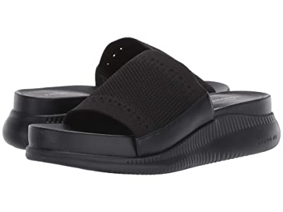Cole Haan 2.Zerogrand Stitchlite Sandal (Black Knit/Leather/Black) Women