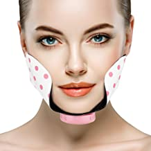 Face Cheek Slimming Belt Silicone Electric Adjustable Mini Facial Slimming Lifting Firming Pad Point Massage Patch Estimated Price : £ 8,89