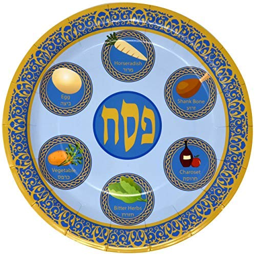 Gift Boutique Einweg-Pappgeschirr für Pessover Seder Teller, 22,9 cm, 48 Stück