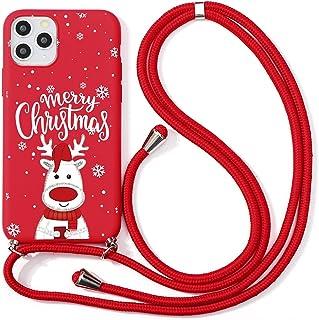 """Yoedge Łańcuszek na telefon komórkowy etui na telefon komórkowy Apple iPhone 13 Pro Max 6,7"""", motyw bożonarodzeniowy etui ..."""
