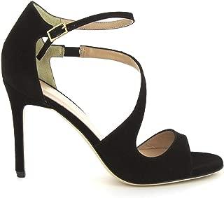 LEONARDO SHOES Luxury Fashion Womens 5017BLACK Black Sandals | Season Permanent