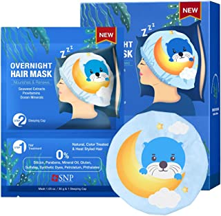 SNP - Otter Overnight Korean Hair Mask - Nourishes & Renews Hair to a Glossy, Healthy Shine - 5 Hair Masks - Best Gift Ide...