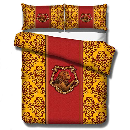 Neue Cartoon Potter Elegante Klassische 3D Bettwäsche Set Gedruckt Bettbezug-Set Twin Voll Königin König Größe,180x210cm(3Stück)