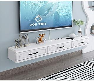 FHKBB Meuble TV Mural Étagère Flottante Meuble TV Console multimédia Murale avec tiroirs et étagère de Rangement Ouverte É...