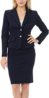 Women's Classic Slim Fit Blazer and Pants, Skirt Suit Set(3017)