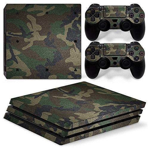 VINCORP Sony PS4 Playstation 4 Pro Skin Design Foils Aufkleber Schutzfolie Set - Camouflage Army Bundeswehr Bund [PlayStation 4] …