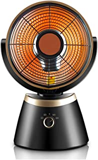 Calentador Calentadores halógenos, calentadores verticales para el hogar Radiador eléctrico oscilante - Oficina y uso en el hogar (Oro Negro)