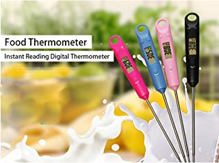 ZJFSX Digital Thermometer, Insan Read hermomeer Digial - Mea hermomeer Probe - For cooking barbecue waer milk,pink