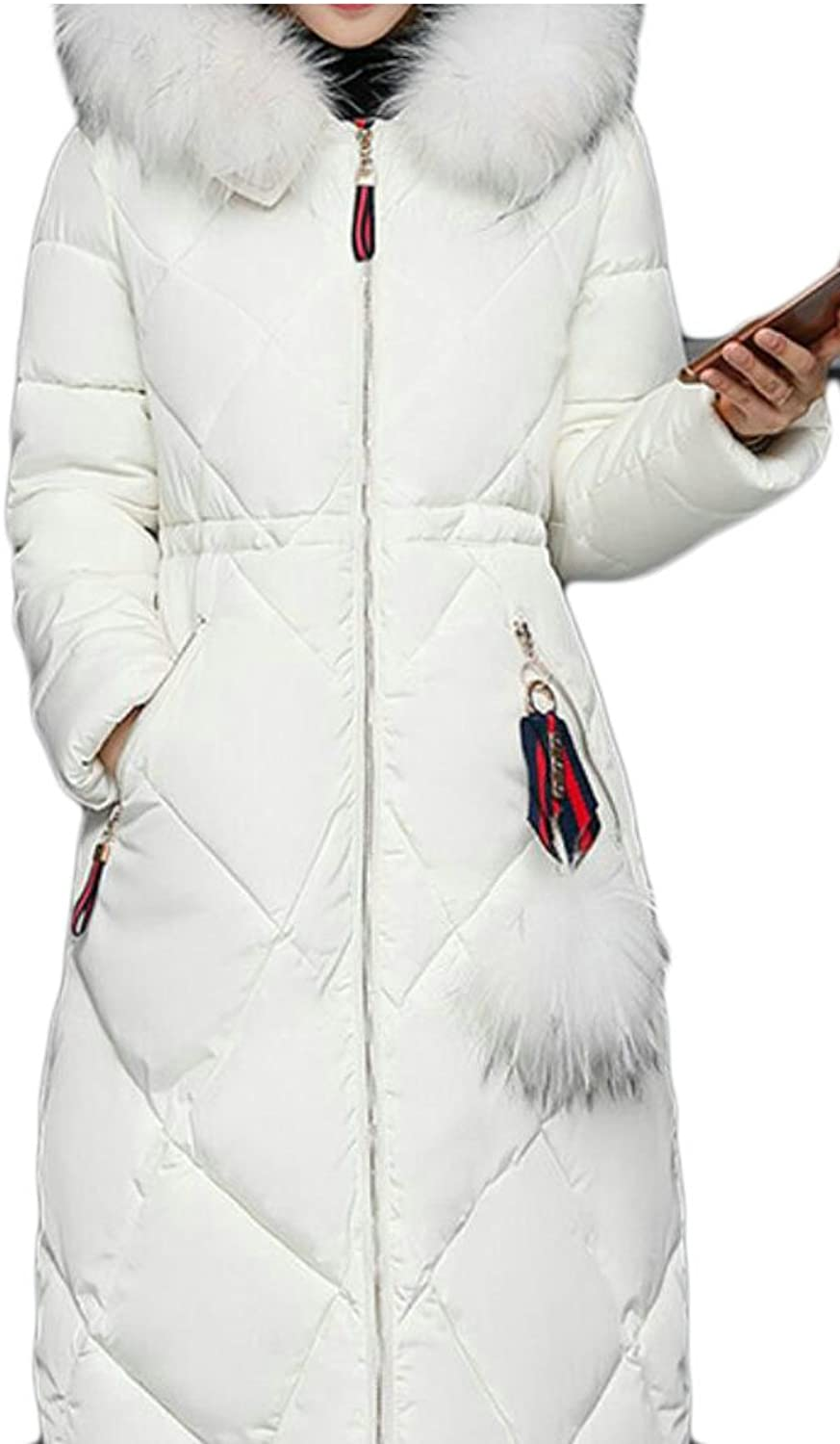 GenericWomen Generic Women's Down Coat With Fur Hood Down Parka Puffer Overcoat Jacket