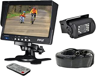 "Car Backup Rear View Camera - Reverse Parking Rearview Back Up Car Camera And Monitor Video System w/ 7"" Monitor, Dual DC ..."