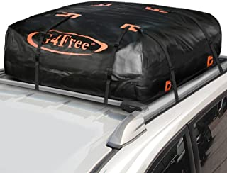 G4Free 15.7 Cubic Feet Waterproof Car Top Carrier, Easy to Install Soft Roof Bag Cargo Bag with Wide Straps-Works with or Without Roof Rack
