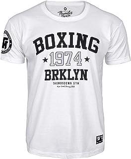 Duro Knocks Gimnasio Entrenamiento Marcial Artes Informal Thumbsdown Pulgares Down Boxeo 1974 Camiseta Brooklyn Club MMA