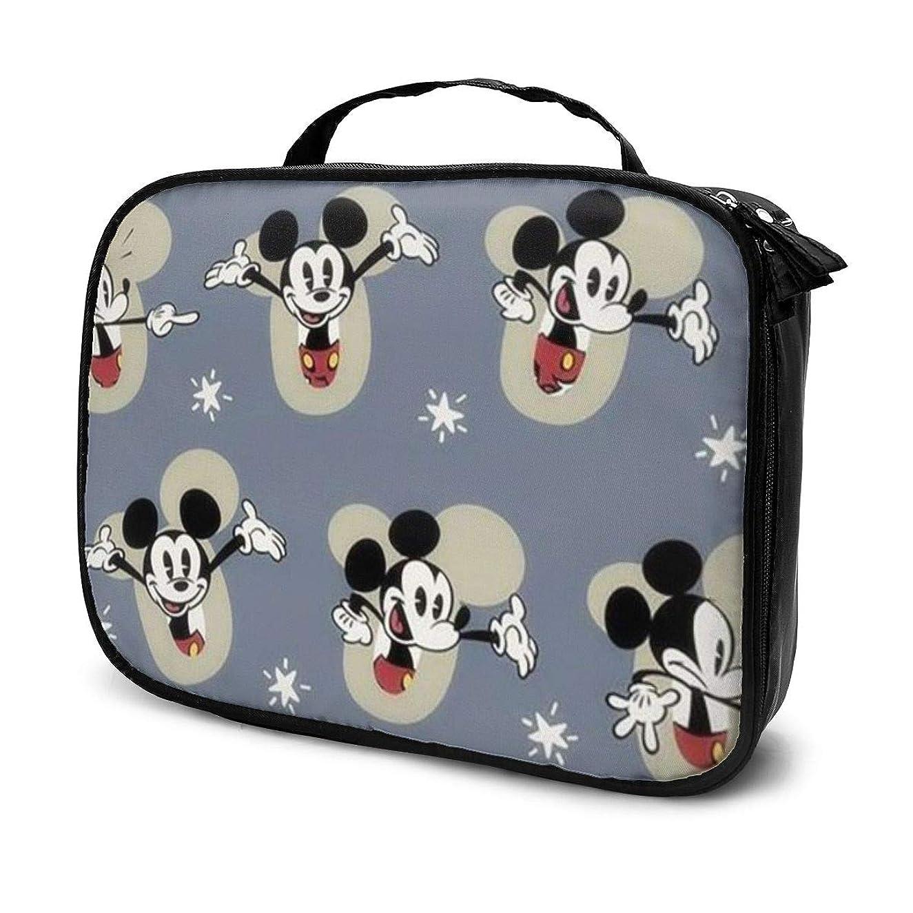 前提条件寝室役員Daituミッキーマウス 化粧品袋の女性旅行バッグ収納大容量防水アクセサリー旅行