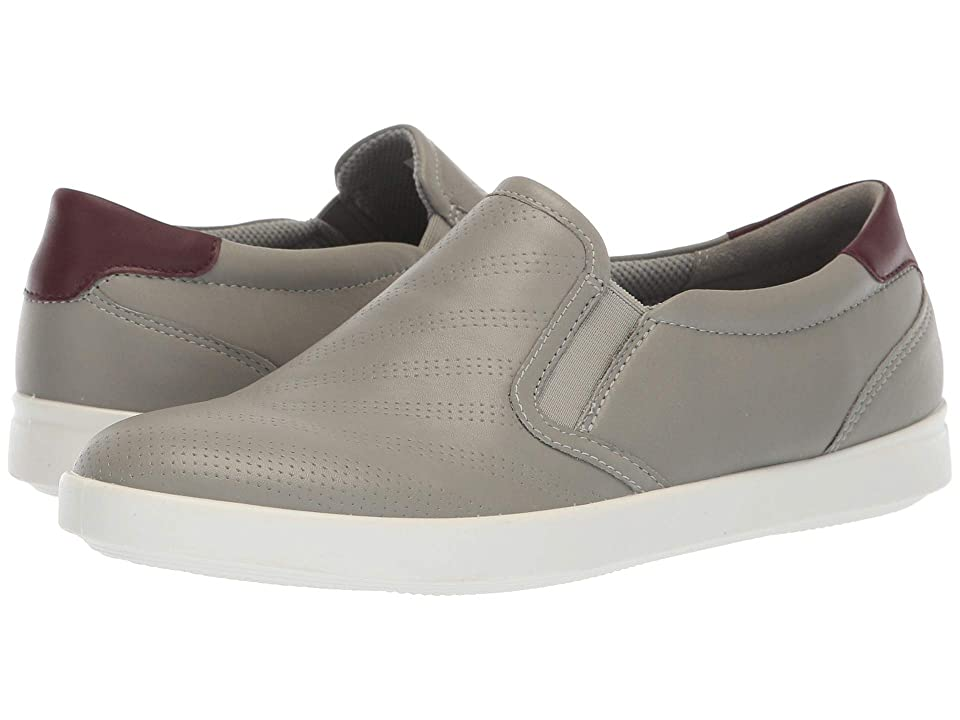 ECCO Aimee Perforated Slip-On (Wild Dove/Wine Cow Leather) Women