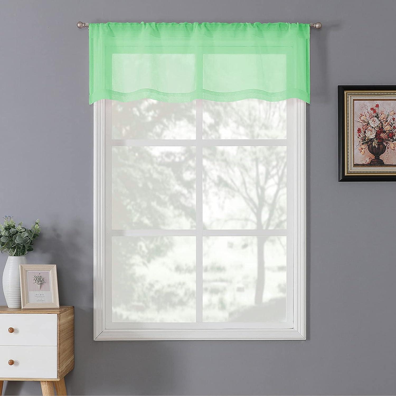 Tollpiz Sheer Valance Linen Bedroom 5% OFF Curtains Sh Regular store Textured