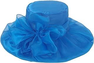 Womens Organza Kentucky Derby Church Party Floral Wide Brim Summer Hat